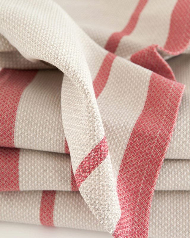 Mungo - Huck - Red on Natural - Detail