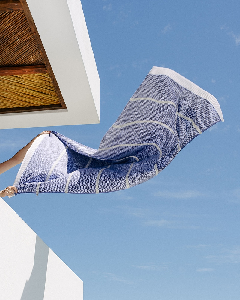 Mungo Itawuli in Blue Moon. A pure cotton towel design, woven and made in South Africa