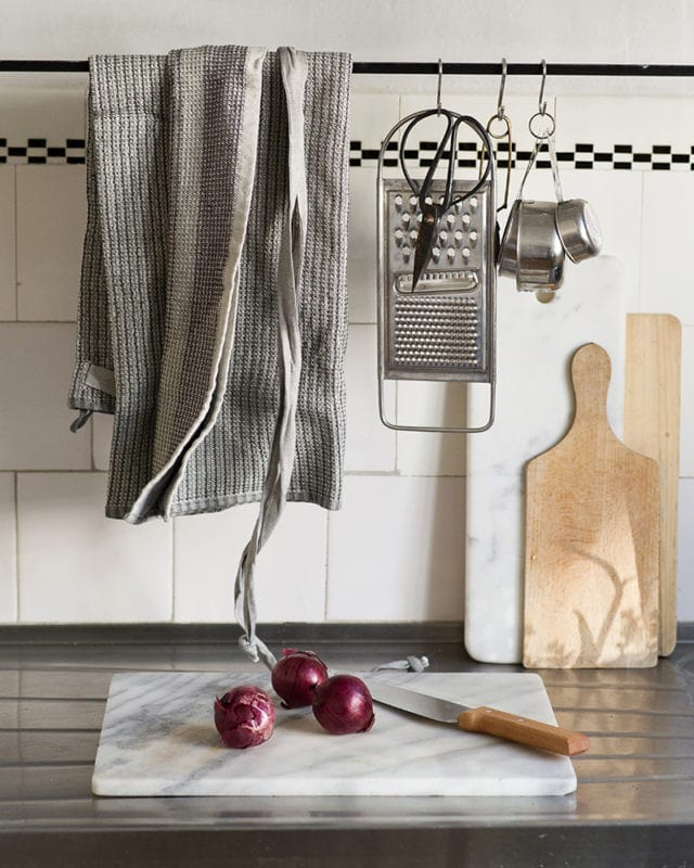 The kitchen essential of the year is the Mungo Man cloth, this apron is woven from pure cotton at the Mungo Mill in Plettenberg Bay