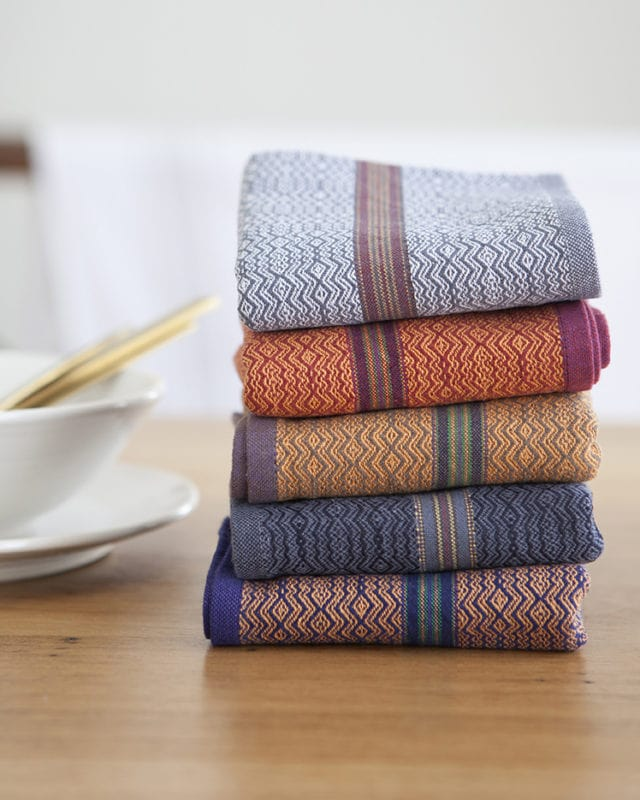 Mungo Boma Napkina. Generously sized natural fibre napkins in an array of African-inspired colours