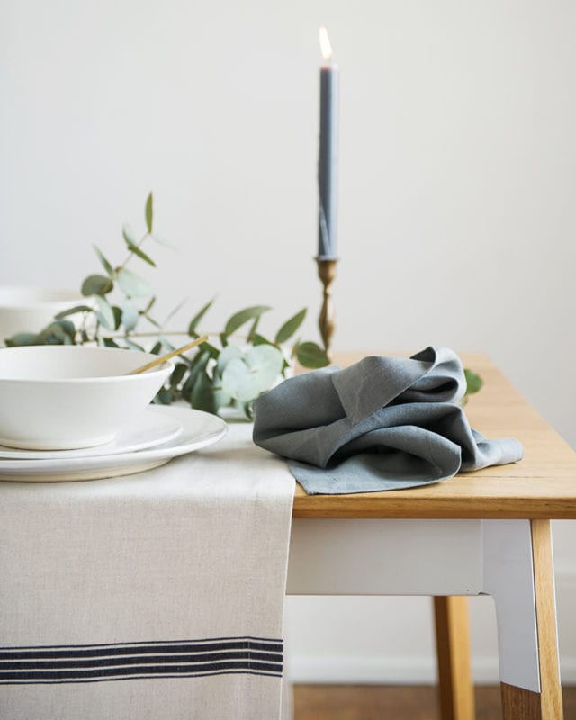 Mungo Table Runner - natural fibre table cloths & runners woven at the Mungo Mill