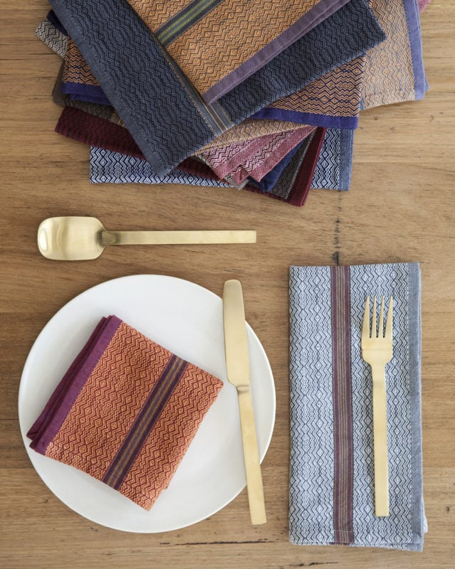 The Mungo boma cloth napkin is available in wide variety of colours. Find the one to suit your home.