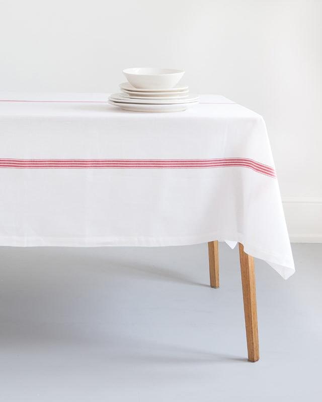 Mungo linen & cotton Provincial Stripe Tablecloth