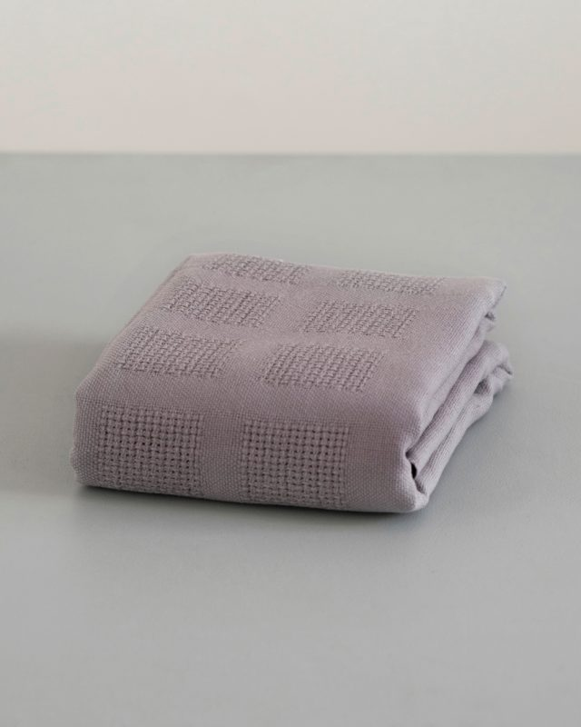 Mungo organic cotton baby blanket in elephant grey woven in Africa