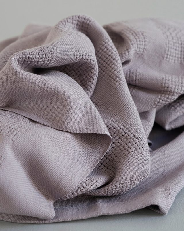 Mungo organic cotton baby blanket in elephant grey woven in Plettenberg Bay