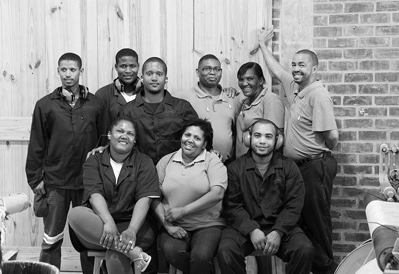 Mungo weaving team at the Mungo Mill in Plettenberg Bay