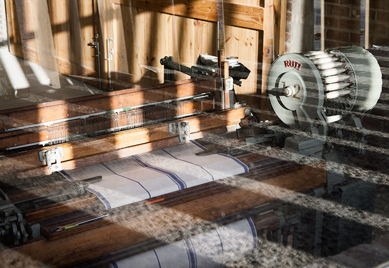 At the Mungo mill in Plettenberg Bay, South Africa you can see how we complete the weaving process