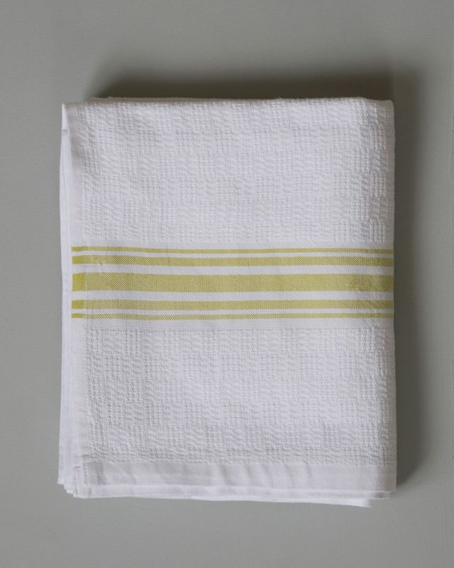 Mungo Willow Weave Towel in the new Citronelle colourway, woven at the Mungo mill