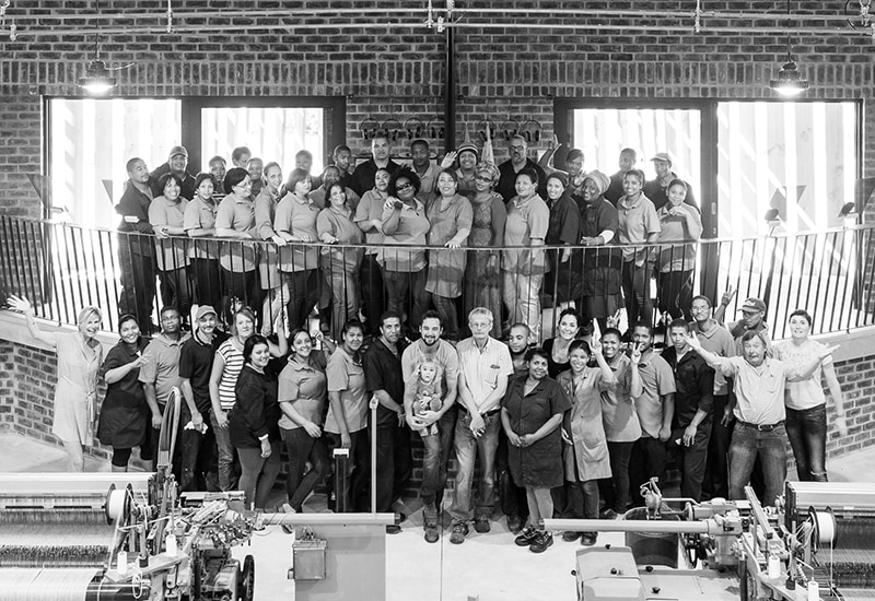 The Mungo team pictured here at our Mill in Plettenberg Bay, South Africa