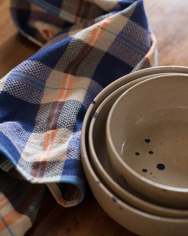 Mungo Vadoek Cloth in the Bilberry olourway, a colourful addition to out kitchen linen range