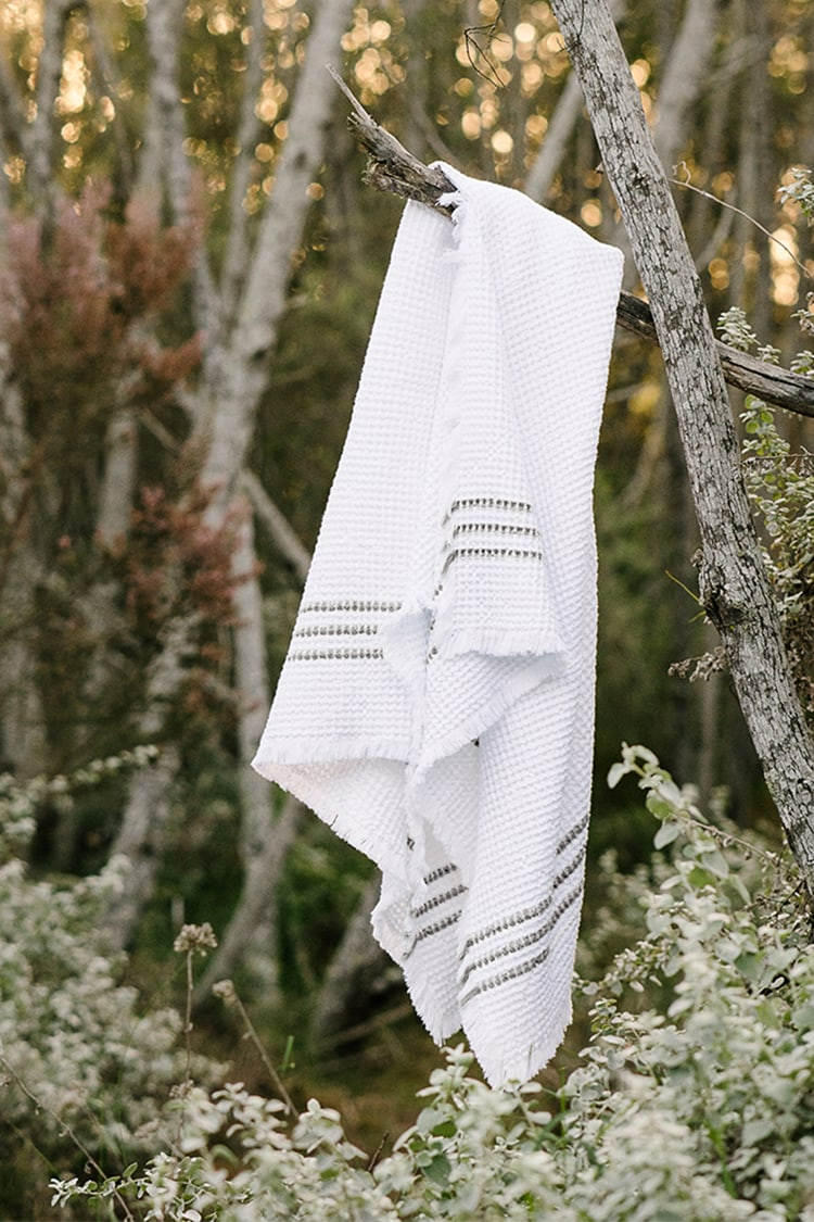 The Mungo Belgian Waffle - a luxuriously, thick and cuddly pure cotton bath design, woven and made at the Mungo Mill in South Africa