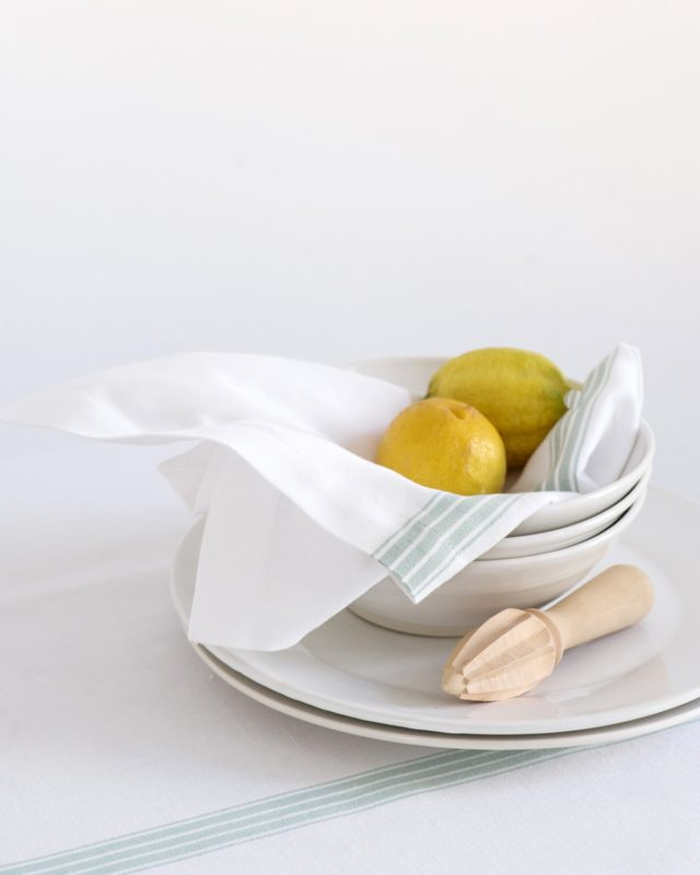 Mungo Provincial Stripe Tablecloth. Natural fibre, heirloom quality homeware textiles designed, woven & made in South Africa
