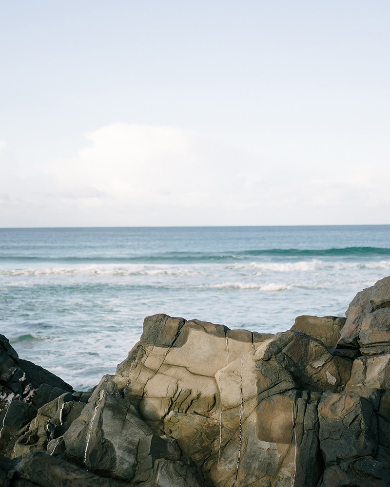 Beach scene in Plettenberg Bay - home of the Mungo Mill, which designed, weaves & makes heirloom quality homeware textiles