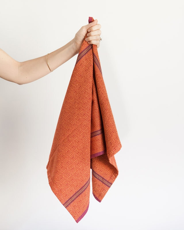 Mungo Boma Cloth. A pure cotton kitchen towel. Robust, abosrbent & attractive. Designed, woven, made at the Mungo Mill in South Africa